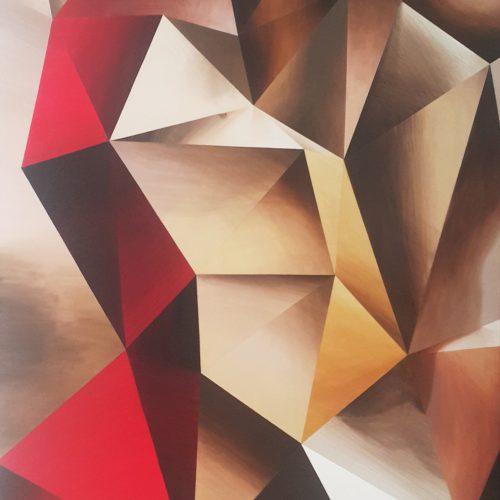 Berlin Czerwień i żłoto 2019, 120x100cm 2